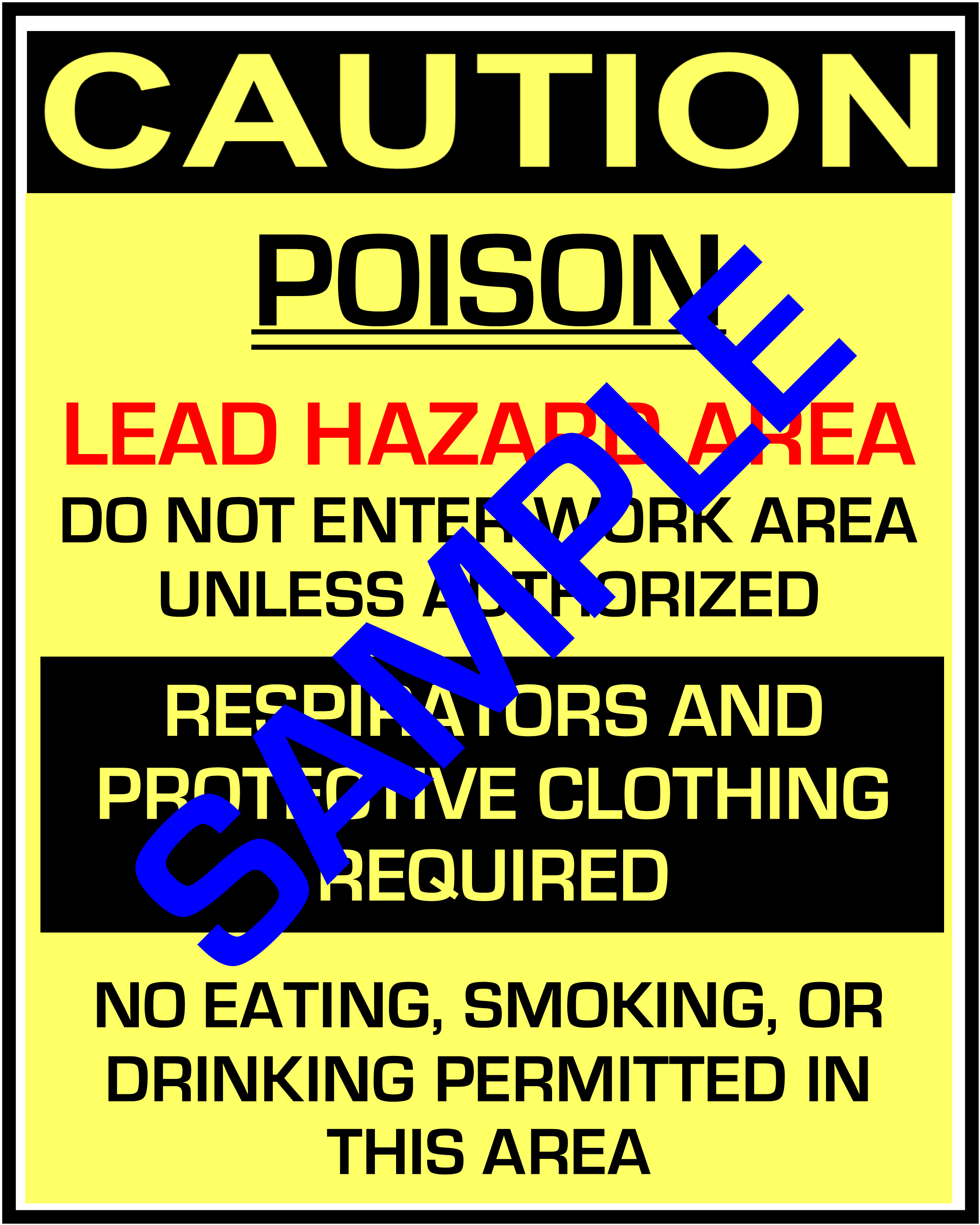 Rrp job site sign lead paint hazard symbols 10 languages caution poison lead hazard warning rrp sign in 10 languages downloadable product biocorpaavc Image collections