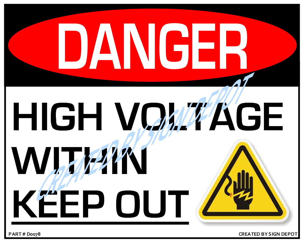 Danger high voltage within keep out sign order save print d0078 danger high voltage within keep out with buycottarizona