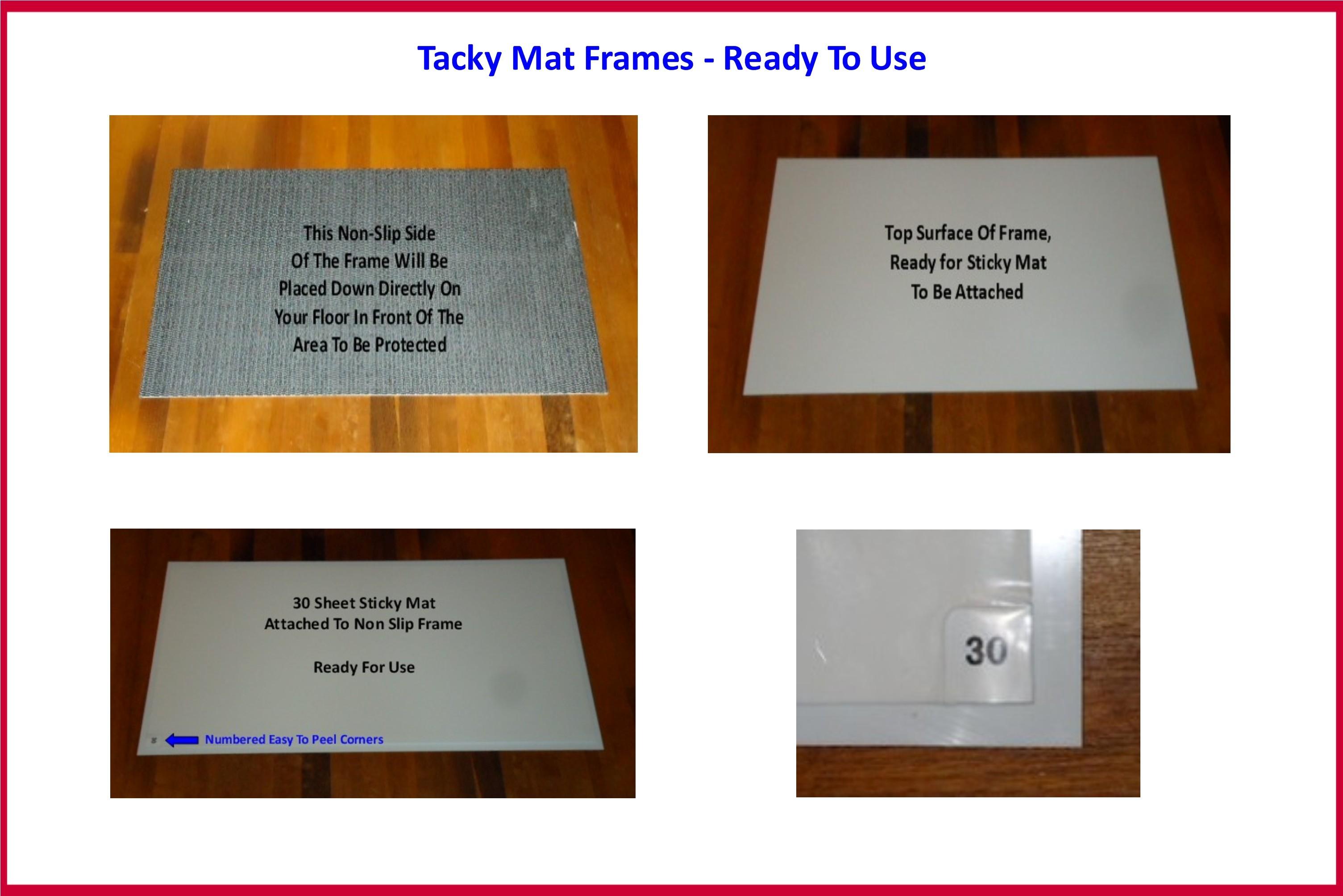 Non Slip Sticky Mat Frames Used Alongside 18 Inch X 36